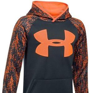 Under Armour Youth Hooded Sweatshirt XL Orange